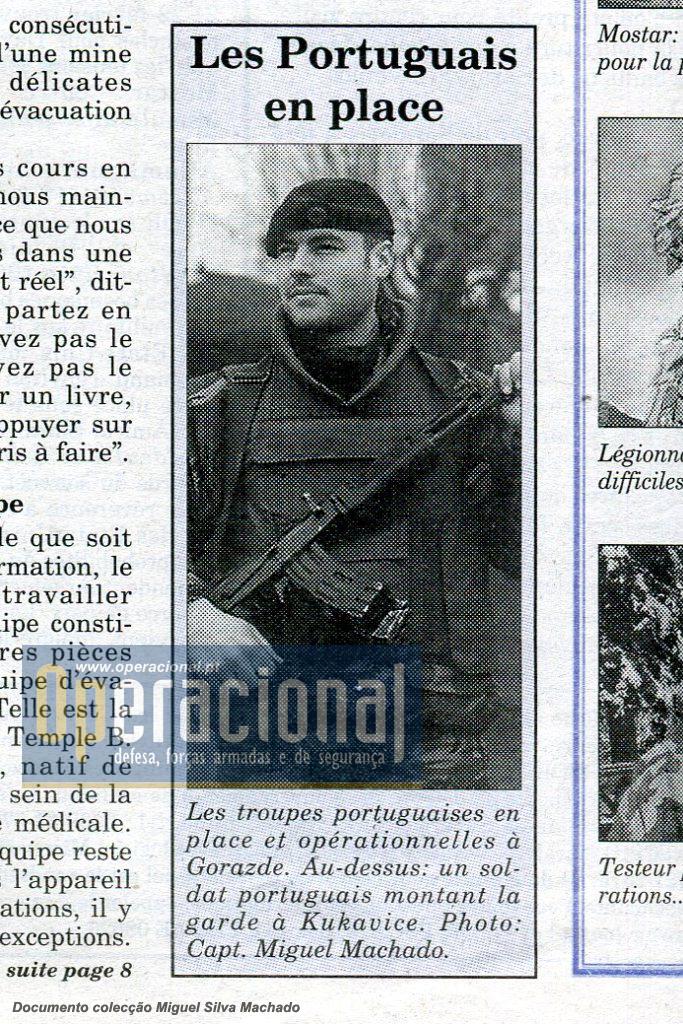 """Gorazde a cidade muçulmana cercada durante anos, teve no contingente português a primeira força da NATO que garantiu a ligação a Sarajevo com a escolta aos """"comboios humanitários"""" regulares."""