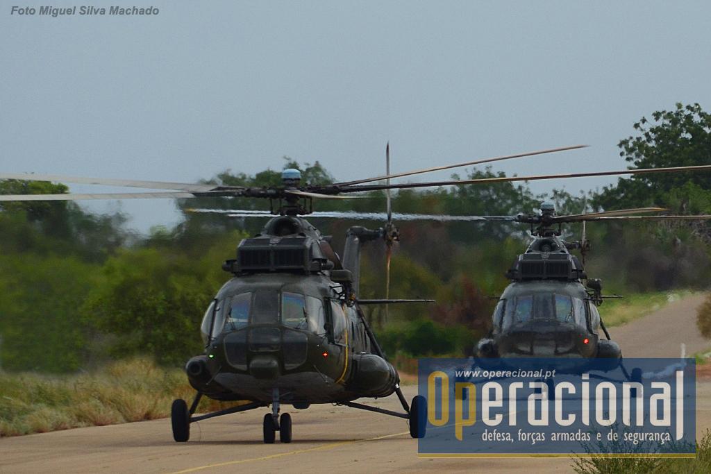 O Regimento Aéreo de Helicópteros, deslocou para Cabo Ledo, quase em permanência, dois MI17, que garantiram a execução dos saltos em pára-quedas para os cursos.