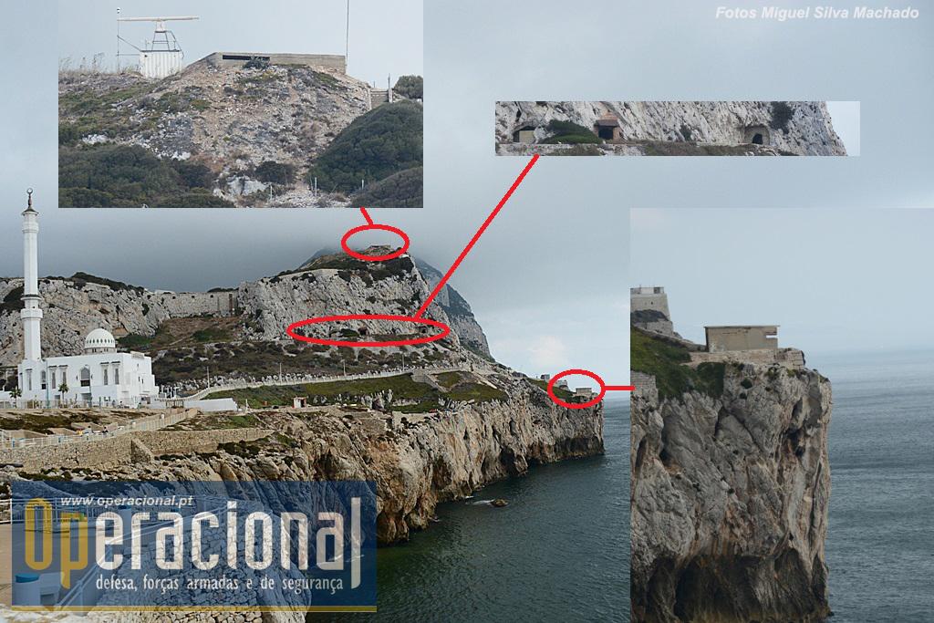 Instalações militares de todas as épocas é coisa que não falta em Gibraltar, e na Ponta Europa também não!