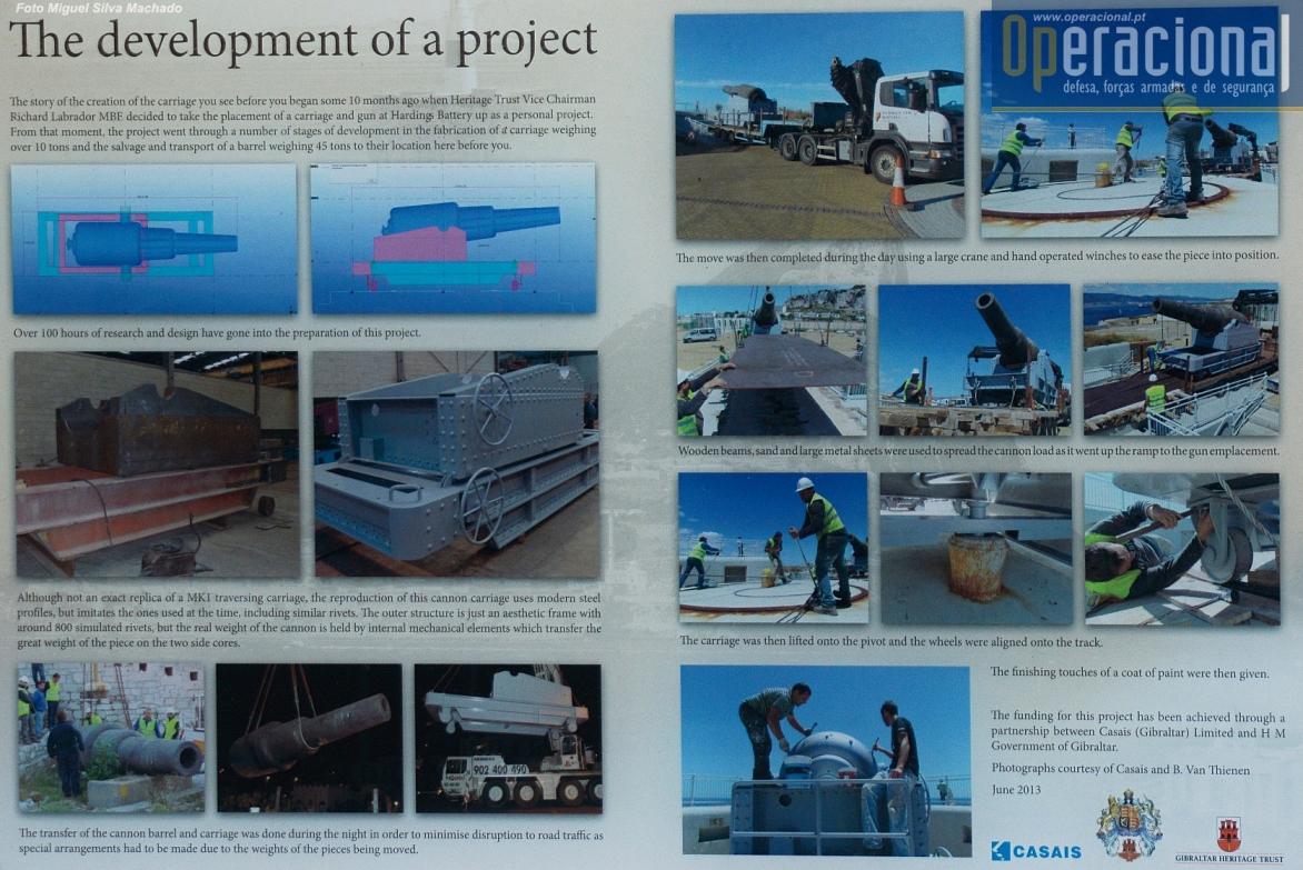 Em 2013 os trabalhos de reconversão da bateria para a nova finalidade foram concretizados.