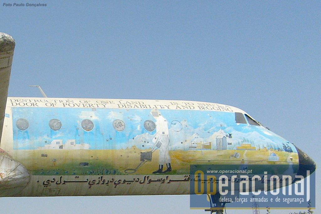 Como se refere no artigo as pinturas de algumas das aeronaves têm mais a ver com o gosto local do que com qualquer factor relativo aos seus tempos a voar!