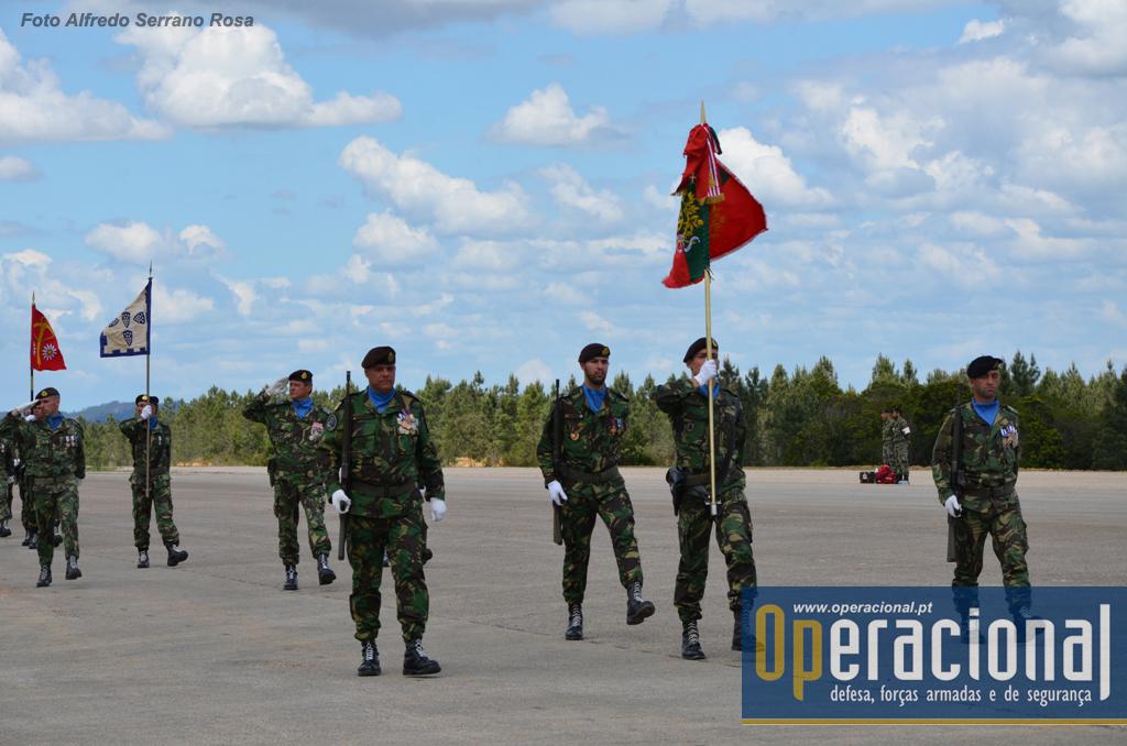Desfile das forças em parada, a força apeada.