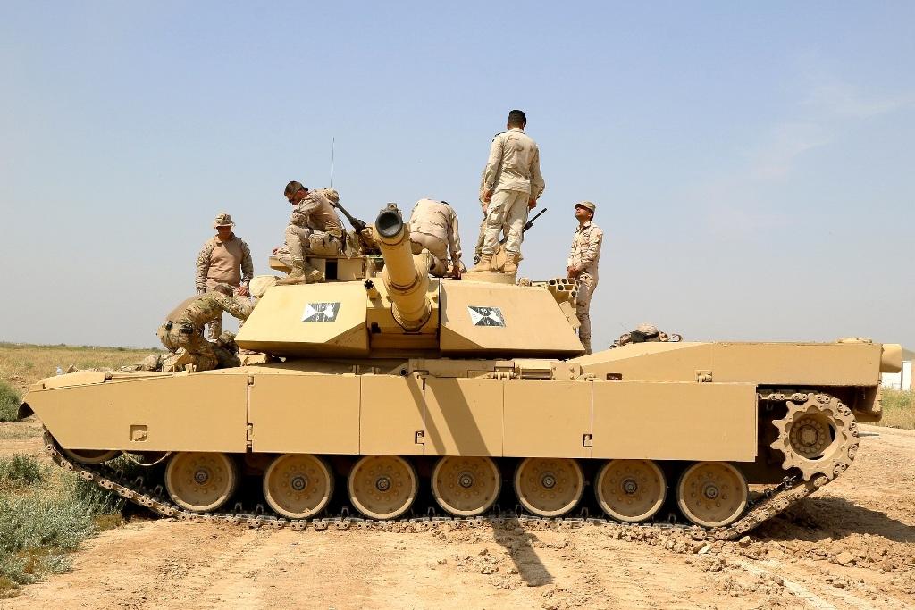 Um dos M1 do Exército Iraquiano.