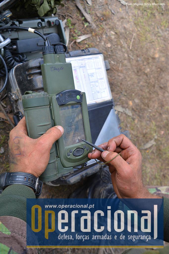 O comandante de secção pode receber os comandos de tiro via rádio ou com este GDU-R.