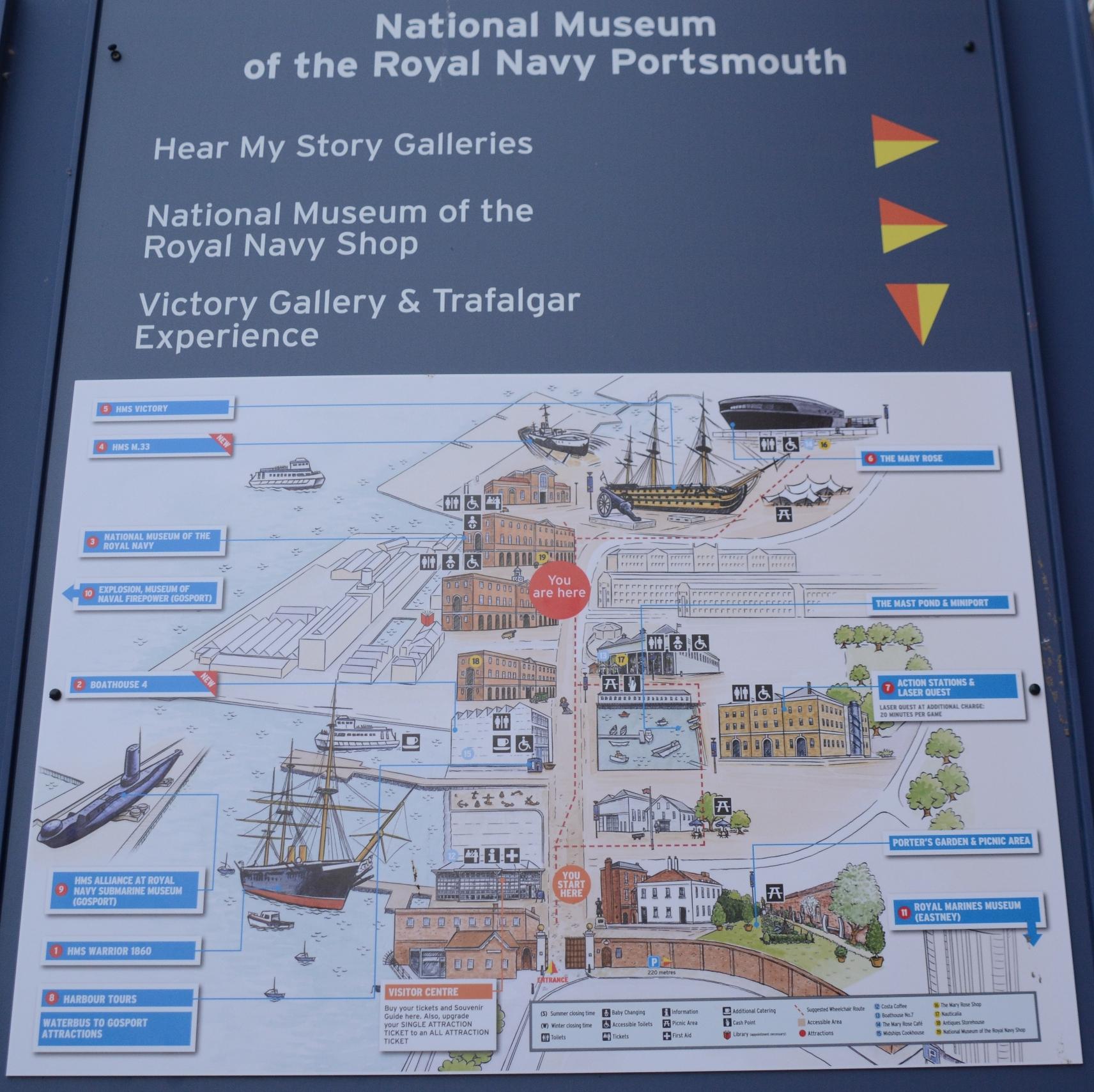 Para quem gosta do tema, há muito para visitar no Portsmouth Historic Dockyard.