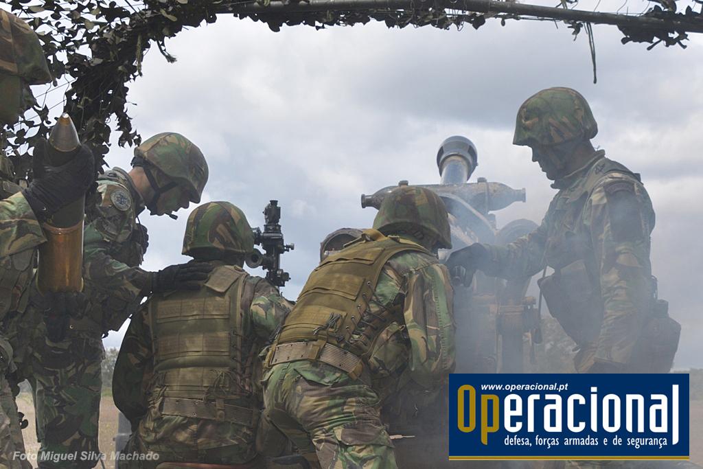 Foram vários os exercícios (ver texto), durante mais de um ano, que a generalidade dos militares da bateria cumpriram. Materiais e procedimentos foram repetidamente testados e aperfeiçoados.