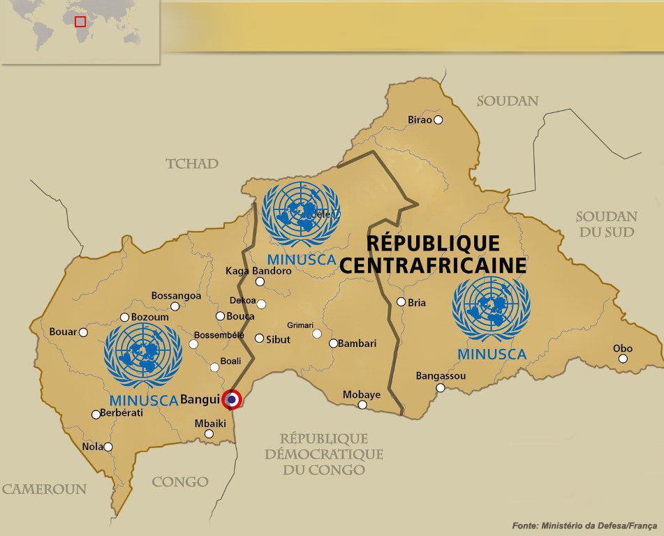 A Republica Centro Africana, próximo teatro de operações para os comandos portugueses.