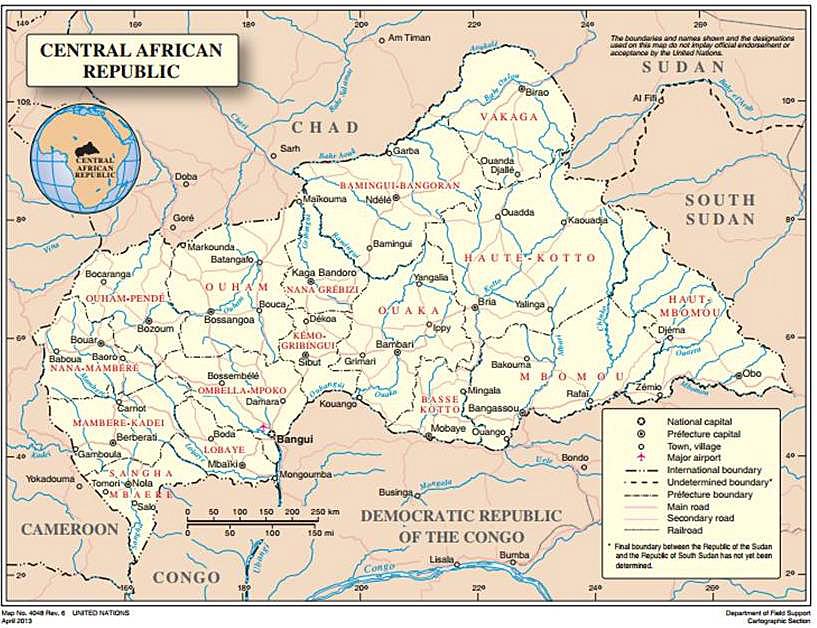 Mapa RCA ONU