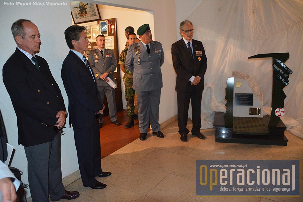 O Presidente da Liga dos Combatentes usa da palavra e recorda o esforço da Liga na preservação dos memoriais que o Exército