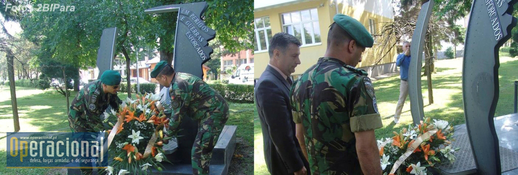 O Tenente-Coronel Francisco Sousa, comandante do 2.ºBIPara em missão no Kosovo e Bósnia e também ele veterano da primeira missão na Bósnia em 1996, estabeleceu contactos directos com a Câmara Municipal e em conjunto com a autarquia prestou homenagem aos militares mortos na Bósnia.