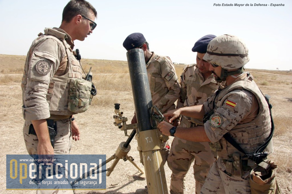"""Também os morteiros em uso nas brigadas instruídas em besmayah por espanhóis e portugueses são """"made in USA"""""""