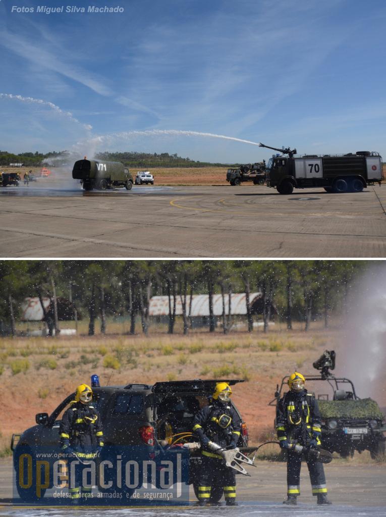 A Companhia de apoio ao Aeródromo mostra algumas das suas capacidades