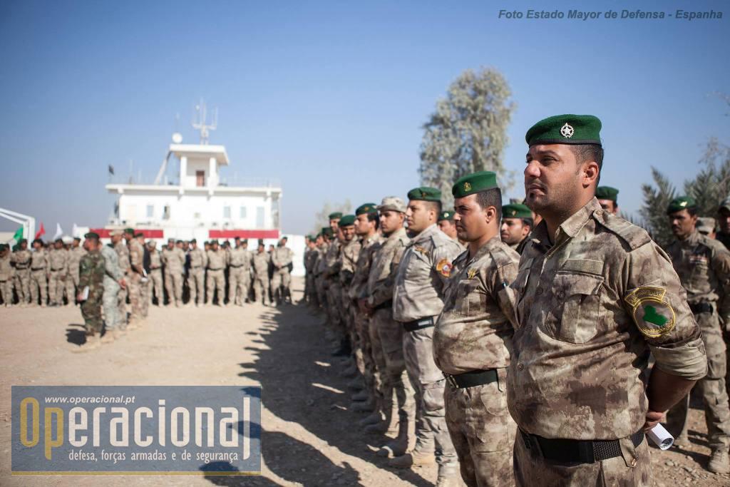 Cerimónia final da instrução ministrada à Polícia de Fronteira.
