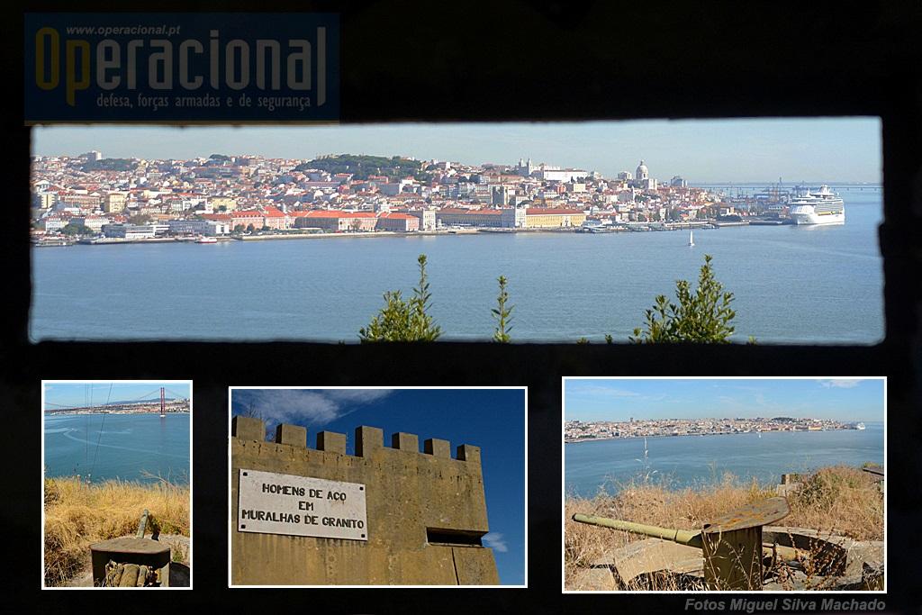 O forte foi preparado para combater 360.º com armas ligeiras e a artilharia cobre as duas margens do rio.