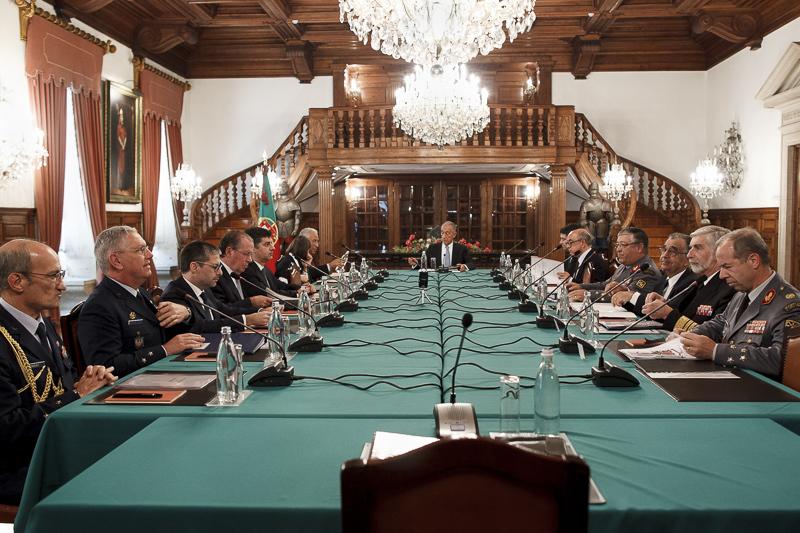 Reunião de 6 de Dezembro de 2016 do Conselho Supeior de Defesa Nacional no Quartel de Santo Ovídeo no Porto (Foto Presidência da República).